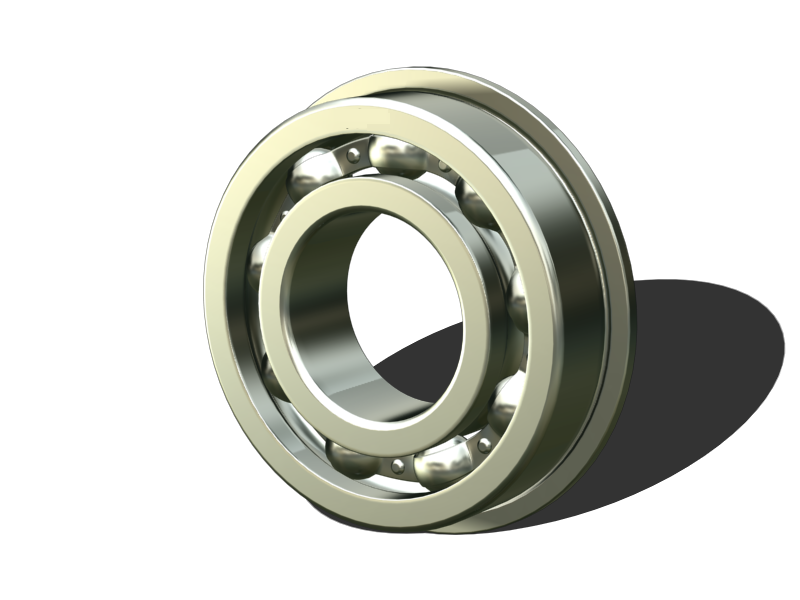 Inch size Miniature ball bearings Flange type with shields